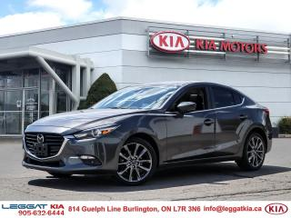 Used 2018 Mazda MAZDA3 GT / leather / sunroof / navigation / camera / heated seats for sale in Burlington, ON