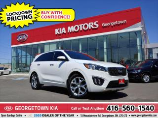 Used 2017 Kia Sorento SX TURBO|CLN CRFX| 1 OWNR| APPLE/ANDROID| PANOROOF for sale in Georgetown, ON