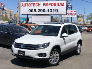 Used 2017 Volkswagen Tiguan Prl White Comfortline 4motion Navigation/Camera/Sunroof for sale in Mississauga, ON