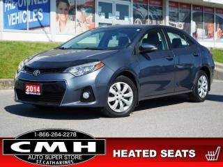 Used 2014 Toyota Corolla S  CAM BLUETOOTH S/W-AUDIO HTD-SEATS for sale in St. Catharines, ON