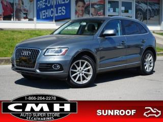 Used 2017 Audi Q5 2.0T quattro Technik  NAV CAM ROOF HTD-SEATS 19-AL for sale in St. Catharines, ON