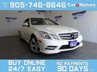 Used 2013 Mercedes-Benz E-Class E350 | CONVERTIBLE | NAV | ONLY 3,000 KM | 1 OWNER for sale in Brantford, ON