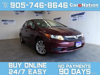 Used 2012 Honda Civic EX | SUNROOF | BLUETOOTH | ALLOYS | ONLY 81 KM! for sale in Brantford, ON