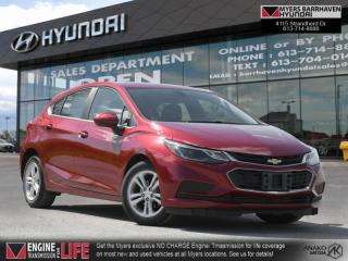 Used 2018 Chevrolet Cruze LT  - Bluetooth -  Heated Seats - $106 B/W for sale in Nepean, ON