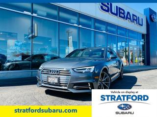 Used 2018 Audi A4 quattro Premium Plus for sale in Stratford, ON