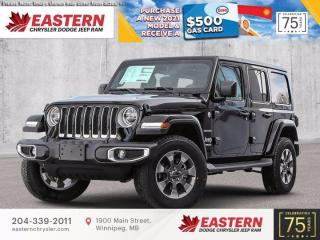 New 2021 Jeep Wrangler Unlimited Sahara | Removable Hard Top | for sale in Winnipeg, MB