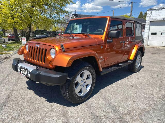 2010 Jeep Wrangler Sahara Unlimited/6 Speed Manual/2 Tops/Certified