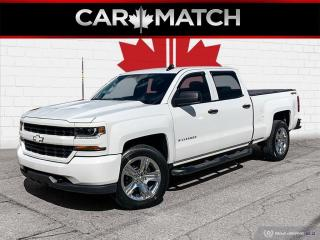Used 2018 Chevrolet Silverado 1500 CUSTOM / CREW CAB / 4X4 / V8 / for sale in Cambridge, ON