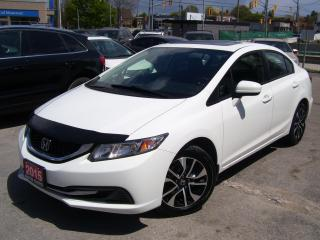 Used 2015 Honda Civic EX,SUNROOF,REAR & SIDE CAMERA,BLUETOOTH,CERTIFIED for sale in Kitchener, ON
