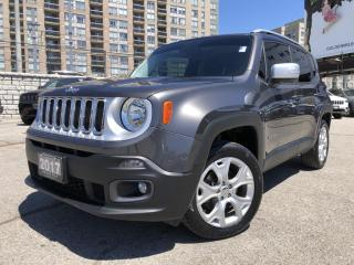 Used 2017 Jeep Renegade Limited No Accidents, Sunroof, Heated Seats, Heated Steering, Rear View Camera for sale in North York, ON