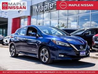 Used 2018 Nissan Leaf SV Fully Electric Navi Blind Spot Apple Carplay for sale in Maple, ON