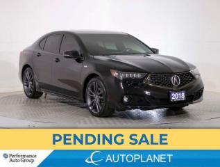 Used 2018 Acura TLX AWD, Tech, A-Spec, Navi, Sunroof, Red Interior! for sale in Brampton, ON