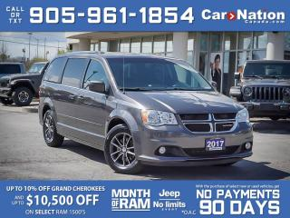 Used 2017 Dodge Grand Caravan SXT Premium Plus| LEATHER-TRIMMED SEATS| NAVI| DVD for sale in Burlington, ON