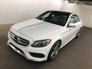 Used 2017 Mercedes-Benz C-Class C300 4MATIC, AMG Pkg, Navigation, Camera, Panoramic for sale in Concord, ON
