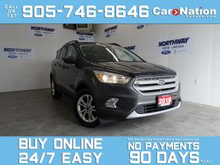 Used 2018 Ford Escape SE | REAR CAM | SYNC | OPEN SUNDAYS | 1 OWNER! for sale in Brantford, ON