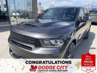 Used 2018 Dodge Durango R/T- AWD,Accident Free,DVD,Htd/Vented Seats for sale in Saskatoon, SK