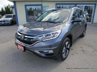Used 2015 Honda CR-V ALL-WHEEL DRIVE TOURING MODEL 5 PASSENGER 2.4L - DOHC.. ECON-MODE.. LEATHER.. HEATED SEATS.. POWER SUNROOF.. BACK-UP CAMERA.. BLUETOOTH SYSTEM.. for sale in Bradford, ON