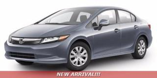 Used 2012 Honda Civic Sdn LX - NEW ARRIVAL - for sale in Sudbury, ON