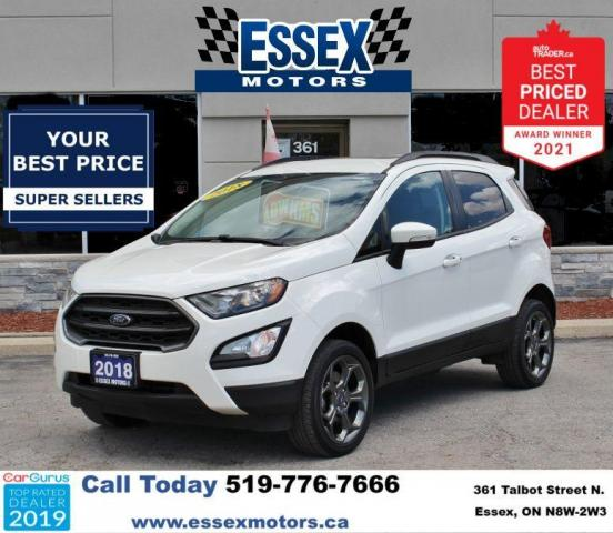 2018 Ford EcoSport SES*Heated Leather*Sun Roof*CarPlay*Rear Cam