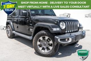 Used 2019 Jeep Wrangler Unlimited Sahara REMOTE START!! LEATHER!! ALPINE AUDIO!! for sale in Barrie, ON