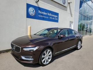 Used 2018 Volvo S90 T6 AWD INSCRIPTION - RARE COLOUR COMBO - LOW KMS for sale in Edmonton, AB