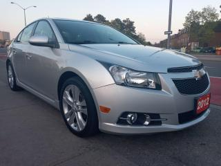 Used 2012 Chevrolet Cruze LTZ Turbo w/1SA-LEATHER-SUNROOF-BLUETOOTH-AUX-USB for sale in Scarborough, ON
