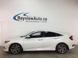 Used 2019 Honda Civic Touring - AUTO! SUNROOF! NAV! 1/2 LEATHER! ADAPTIVE CRUISE! + MUCH MORE! for sale in Belleville, ON