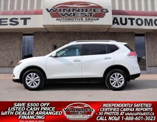 Used 2016 Nissan Rogue AWD, PREM & TECH PKG, HTD SEAT/NAV/ PAN ROOF! for sale in Headingley, MB