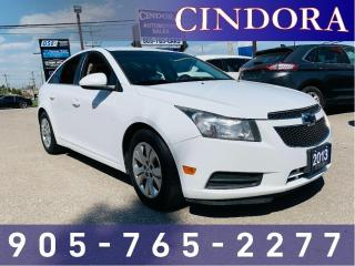 Used 2013 Chevrolet Cruze LT Turbo, Backup Cam, Remote, Start for sale in Caledonia, ON