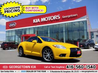Used 2011 Mitsubishi Eclipse SPYDER GS | FOSGATE SOUND | 5 SPD M/T | HTD SEATS for sale in Georgetown, ON