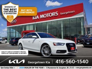 Used 2014 Audi A4 TECHNIK S-LINE| CLN CRFX | LTHR | NAV| SUNROOF| BT for sale in Georgetown, ON