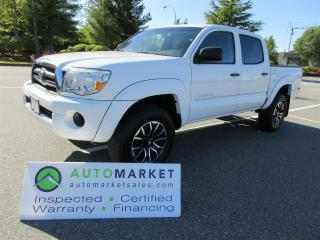 Used 2007 Toyota Tacoma DOUBLE CAB, 6sp MANUAL, 4X4, LOCAL, INSP, WARRANTY, BCAA MEMBERSHIP! for sale in Surrey, BC