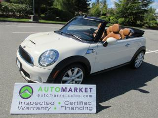 Used 2010 MINI Cooper S CONVERTIBLE, AUTO, LEATHER, INSP, FINANCE, FREE WARRANTY & BCAA MEMBERSHIP for sale in Surrey, BC