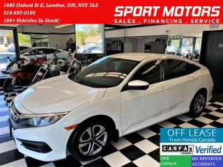 Used 2016 Honda Civic LX+ApplePlay+New Tires+Brakes+Tinted+CLEAN CARFAX for sale in London, ON