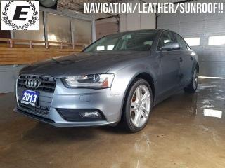 Used 2013 Audi A4 Premium/NAVIGATION/LEATHER/SUNROOF!! for sale in Barrie, ON
