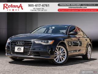 Used 2012 Audi A6 3.0T Premium_Blind Spot_Navi_Rear Cam_Sunroof_BT for sale in Oakville, ON