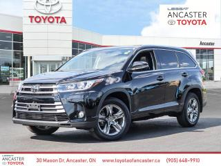 Used 2018 Toyota Highlander LIMITED  for sale in Ancaster, ON