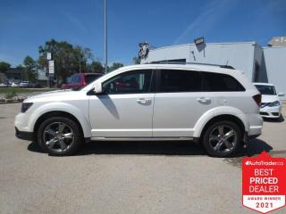 Used 2017 Dodge Journey AWD Crossroad - Sunroof/Nav/DVD/Cam/Leather/7 Pass for sale in Winnipeg, MB