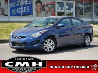 Used 2016 Hyundai Elantra GL  BLUETOOTH HTD-SEATS MANUAL for sale in St. Catharines, ON