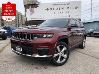 New 2021 Jeep Grand Cherokee L Limited Velvet Red Pearl!  Uconnect(R) 5 NAV w/ 10.1-inch display for sale in North York, ON