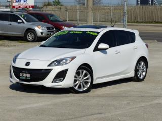 Used 2011 Mazda MAZDA3 GT|LEATHER|NAVIGATION|TOP OF LINE|CERTIFIED|HB for sale in Mississauga, ON