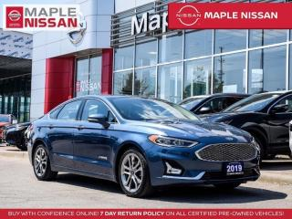 Used 2019 Ford Fusion Hybrid Titanium Hybrid Navi Apple Carplay Remote Start for sale in Maple, ON