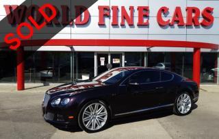 Used 2015 Bentley Continental GT Speed | Accident Free | 630+ HP W12 for sale in Etobicoke, ON