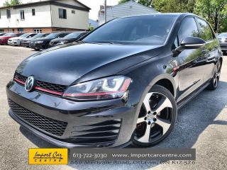 Used 2015 Volkswagen Golf GTI 5-Door Autobahn FENDER  LEATHER  ROOF  ALLOYS  NAV for sale in Ottawa, ON