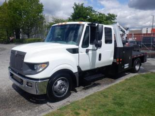 Used 2012 International TerraStar Flat Deck With Crane And Air Tank for sale in Burnaby, BC