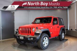 Used 2019 Jeep Wrangler Sport S 4x4 - Hard Top - Back Up Camera - Bluetooth for sale in North Bay, ON