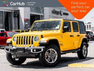 New 2021 Jeep Wrangler Unlimited Sahara 4x4 Cold Weather Nav & Sound Proximity Key for sale in Thornhill, ON