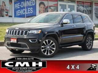 Used 2018 Jeep Grand Cherokee Limited  NAV CAM ROOF LEATH 20-AL for sale in St. Catharines, ON