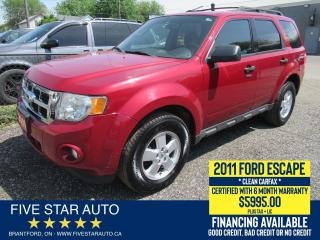 Used 2011 Ford Escape XLT *Clean Carfax* Certified w/ 6 Month Warranty for sale in Brantford, ON