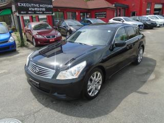 Used 2009 Infiniti G37 SPORT/ 6 SPD / LEATHER /ROOF / PUSH START / RARE for sale in Scarborough, ON